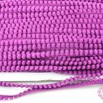 ปอมเส้นยาว (เล็ก) สีม่วงเปลือกมังคุดอ่อน กว้าง 1ซม(1หลา/90ซม)