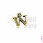 จี้ทองเหลือง ตัวอักษร W 13X14 มิล(1ชิ้น)