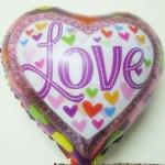 ลูกโป่งฟลอย์รูปหัวใจพิมพ์ลาย LOVE ไซส์ 18 นิ้ว - Love Series Heart Shape Foil Balloon / Item No. TL-E016