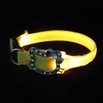 ปลอกคอ LED ลายคิตตี้ Kitty Collar สีเหลือง สำหรับสุนัขและแมว