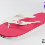 รองเท้าแตะ Hippo Bloo ฮิปโป บลู สีขาวชมพู เบอร์ 9,9.5,10,10.5,11,12,13 สำเนา