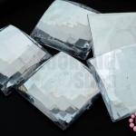 เพชรแต่ง สี่เหลี่ยม สีขาว ไม่มีรู 25มิล(5ชิ้น)