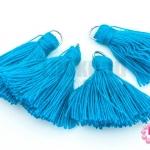 พู่ไหมประดิษฐ์ สีฟ้า 3ซม. (4ชิ้น)