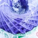 เชือกป่านย้อมสี สีม่วง #17 เส้นเล็ก (1ม้วน)