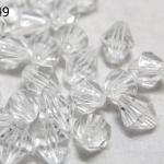 คริสตัลพลาสติก สีขาวใส 10มิล(100กรัม)(274เม็ด)