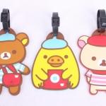 ป้าย Name Tag ห้อยกระเป๋า หมี Rilakkuma Korilakkuma Kiirotori