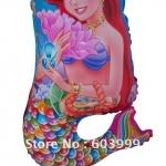 ลูกโป่งฟลอย์ ตัวการ์ตูน Little Mermaid เจ้าหญิงนางเงือก (แพ็ค10ใบ) / Item no. TL-A017