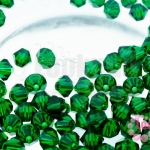 คริสตัลสวารอฟสกี้ (SWAROVSKI) สีเขียวเข้ม 4มิล(100เม็ด)