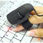 เม้าส์แบบใหม่ ใช้สวมนิ้วชี้ ควบคุมง่าย- USB Optical Finger Mouse ideal for Laptop - Computer