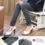 กางเกงเลคกิ้งผ้ายืดขายาว : สีเทา รหัส PN003