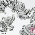 จี้โรเดียม ช้างยิ้ม 19x24 มิล (1ชิ้น)