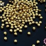 ลูกปัดโลหะ ทองเหลือง กลมเหลี่ยม 4มิล (1ขีด/100กรัม)