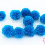 ปอมปอมไหมพรม สีฟ้า 1ซม (10ชิ้น)