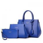 กระเป๋าแฟชั่นเกาหลีพร้อมส่ง รหัส SUIF0212BL สีน้ำเงิน เซต 3 ใบ สุดคุ้ม สวยมากค่ะ