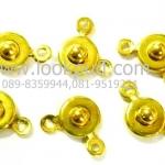 ตะขอสร้่อยแบบกระดุม 7x9 มิล สีทอง (10ชิ้น)