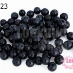 ลูกปัดแก้ว ตาแมว สีดำ 6มิล (1ขีด/100กรัม)