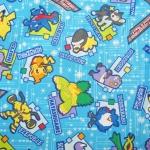 คอตตอนลินินญี่ปุ่น ลาย Pokemon ต่างๆ เหมาะสำหรับชิ้นงานให้ เด็กผู้ชายค่ะ สีฟ้า