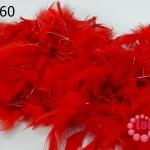 ขนนก มีดิ้น สีแดง (1เส้น)