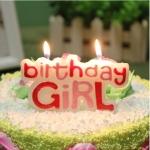 เทียนวันเกิด Birthday Girl สีชมพู / Item No. TL-N005