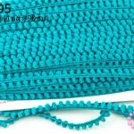 ปอมเส้นยาว (เล็ก) สีเขียว กว้าง 1ซม(1หลา/90ซม)