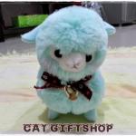 พร้อมส่ง :: ตุ๊กตา Alpacasso 20 ซม. สีฟ้า
