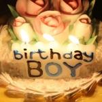 เทียนวันเกิด Birthday Boy สีฟ้า / Item No. TL-N006