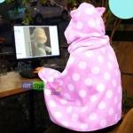 ผ้าคลุมไหล่ตุ๊กตา : สีชมพู PA0141