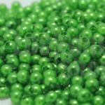 ลูกปัดมุก พลาสติก สีเขียว 3มิล 1 ขีด (8,150ชิ้น)