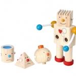 ของเล่นไม้ ของเล่นเด็ก ของเล่นเสริมพัฒนาการ Build-A-Robot หุ่นยนต์หลากอารมณ์ (ส่งฟรี)