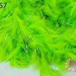 ขนนก มีดิ้น สีเขียวอ่อน (1เส้น)