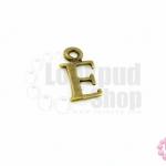จี้ทองเหลือง ตัวอักษร E 8X14 มิล(1ชิ้น)