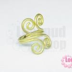 โครงแหวน ทองเหลือง ก้นหอย 4 มุม ไซส์แหวน 17.6ซม./เบอร์ 55 ความกว้างของก้นหอย 20X27 มิล(1 วง)