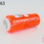 เชือกเทียน ด้ายเย็บ สีส้มสะท้อนแสง #5042 (1ม้วน)