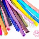 เชือกผ้า ไส้ไก่ คละสี 10เส้น (1เส้น/2เมตร)