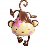 ลูกโป่งฟลอย์ ลิงน้อยทัดดอกไม้ ไซส์ใหญ่ - Monkey with Flower / Item No.TL-A135