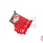 ตัวแต่งลูกปัดมิยูกิ สีแดงเงา-สีทองสอดไส้-สีน้ำตาล-สีครีม 3X5.5 ซม. (1ชิ้น)