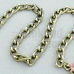 โซ่ห่วง สีทองเหลือง (ตัดเหลี่ยม) 4X7มิล (1หลา/90ซม.)