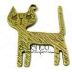 จี้ทองเหลืองรูปแมว ขนาด 25 มิล ยาว 33 มิล ราคา 15 บาท
