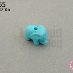 อะคลีลิค รูปช้าง สีฟ้า 9x12มิล (1ชิ้น)