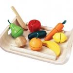 ของเล่นไม้เสริมพัฒนาการเด็ก Assorted Fruit & Vegetables (ส่งฟรี)