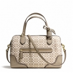 กระเป๋า COACH  POP SIGNATURE METALLIC OUTLINE EAST WEST SATCHEL 26426