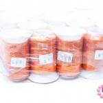 เชือกเทียน ตราน้ำเต้า(ม้วนเล็ก) สีส้ม #915 (12ม้วน)