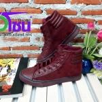 รองเท้าผ้าใบแฟชั่นเกาหลี สีแดง รุ่นBok860