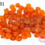 ลูกปัดแก้ว ทรงจานบิน สีส้ม 6มิล (1ขีด/100กรัม)