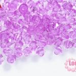 คริสตัลพลาสติก ทรงไบโคน สีม่วง 6 มิล