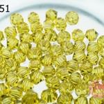 คริสตัลสวารอฟสกี้ (SWAROVSKI) สีเหลืองหม่น(385) 4มิล(100เม็ด)