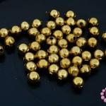 ลูกปัดโลหะ ทองเหลือง กลมเหลี่ยม 5มิล (1ขีด)