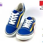 รองเท้าผ้าใบ MASHARE (มาแชร์) รุ่น V-7 สีน้ำเงิน-เหลือง เบอร์ 37-44