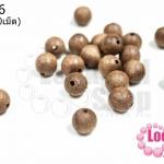 ลูกปัดไม้ กลม สีไม้ธรรมชาติ 10มิล (20เม็ด)