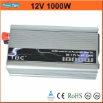 INVERTER เครื่องแปลงกระแสไฟรถเป็นไฟบ้าน 1000Watt 12V DC to 220V AC Car Power Inverter (Silver)